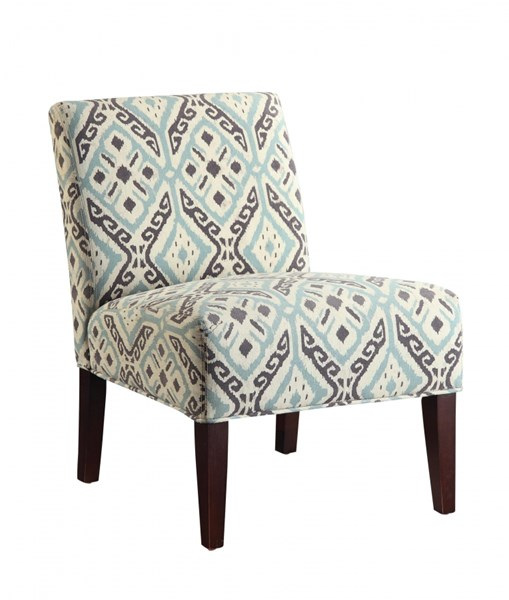 Beige Brown Fabric Wood Accent Chair w/Tapered Legs CST-902191