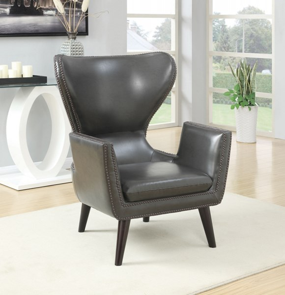 Leatherette Accent Chairs w/Nailhead Trim CST-902-AC-VAR