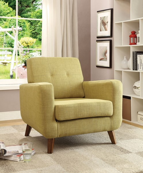 Contemporary Green Fabric Tufted Back Accent Chair CST-902482