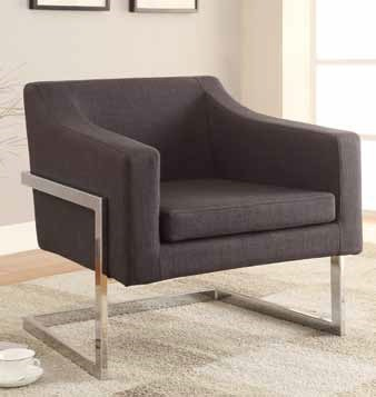 Contemporary Grey Fabric Metal Accent Chair CST-902530