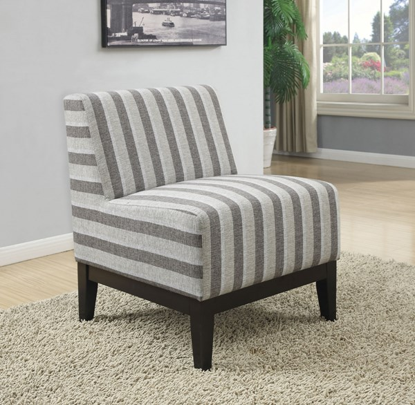 Fabric Wood Armless & Cushion Back Accent Chairs CST-902610-AC-VAR