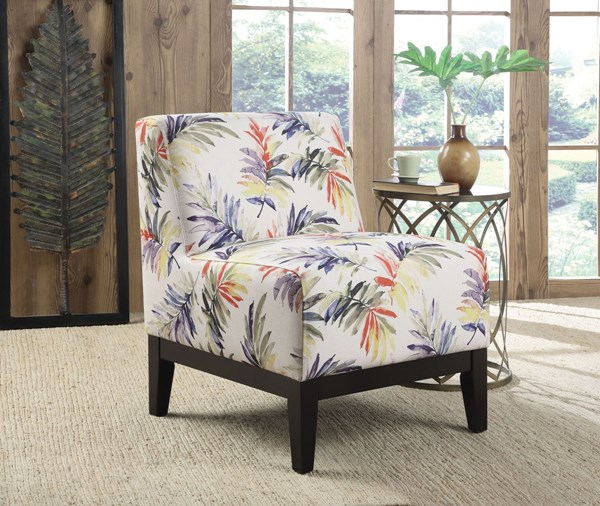 Multi Fabric Wood Armless & Cushion Back Accent Chairs CST-902612-AC-VAR