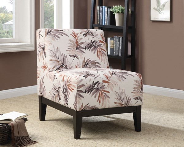 Red Purple Fabric Wood Cushion Back Accent Chair CST-902613