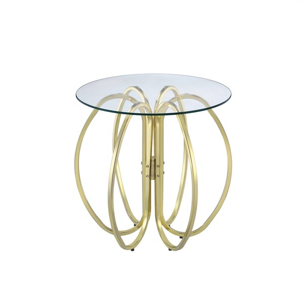 Brass Chrome Metal Six Interlocking Circle Accent Tables CST-90263-AT-VAR