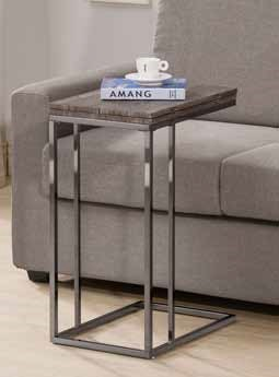 Contemporary Grey Metal Wood Portable Snack Table CST-902864