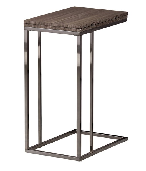 Coaster Furniture Grey Black Wood Snack Table CST-902864