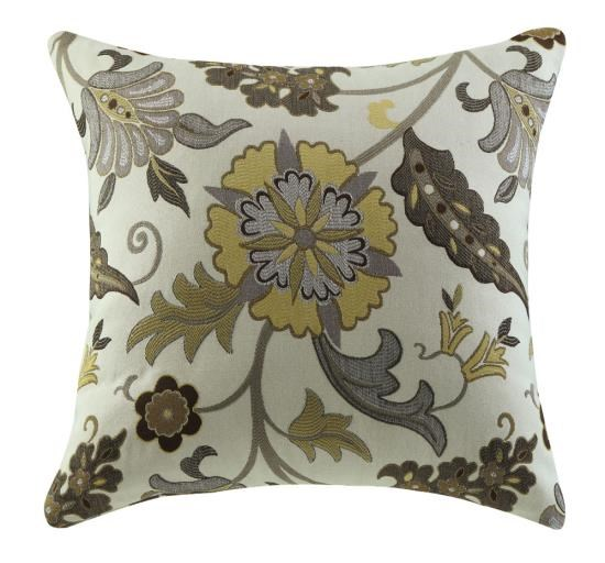 2 Floral Fabric Square Accent Pillows CST-905002