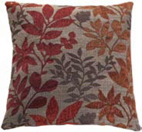 2 Autuman Leaves Fabric Square Accent Pillows CST-905017