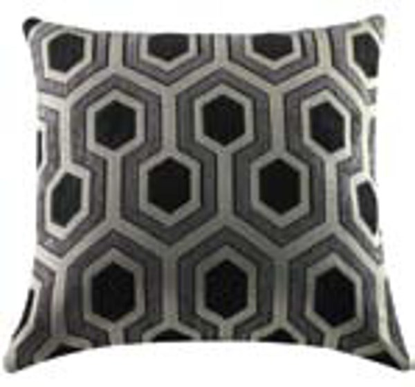 2 Hexagon Fabric Square Accent Pillows CST-905020