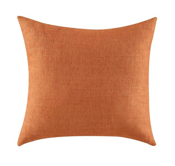 2 Casual Solid Orange Square Accent Pillows CST-905052