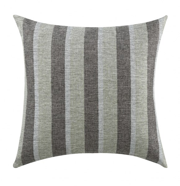 2 Charcoal Striped Pillows W/Stripes Pattern CST-905101