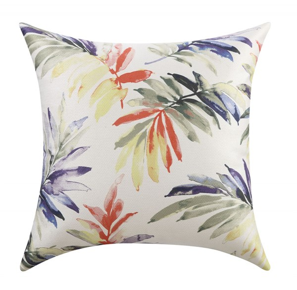 2 Green Red Blue Pillows W/Watercolor Leaves Pattern CST-90510-PL-VAR