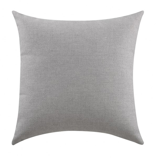 2 Grey Fabric Square Accent Pillows CST-905108