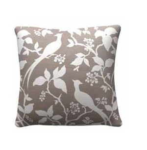 2 Grey Floral Square Accent Pillows CST-905317