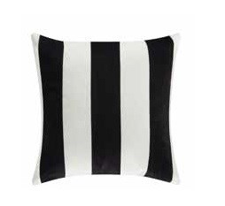 2 Black Stripes Square Accent Pillows CST-905333