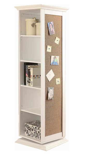 Coaster Furniture White Swivel Storage Cabinet CST-910080