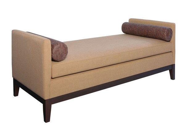 Coaster Furniture Amber Brown Faux Leather Bench CST-918510