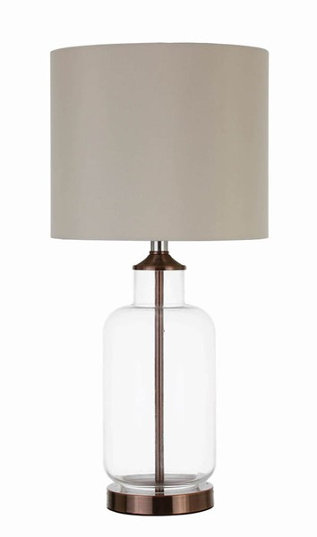 Coaster Furniture Beige Clear Glass Table Lamp CST-920015