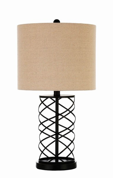 Coaster Furniture Bronze Fabric Shaded Table Lamp CST-920023