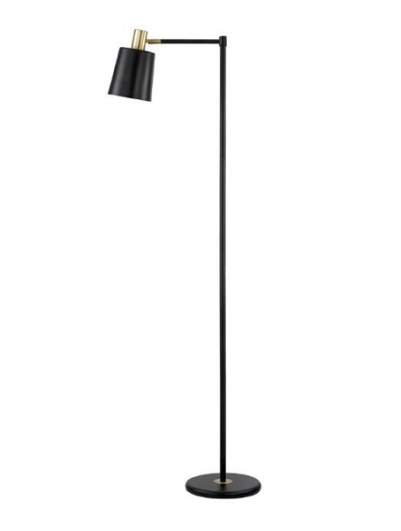 Coaster Furniture Black Gold 2 Way Switch floor Lamp CST-920080