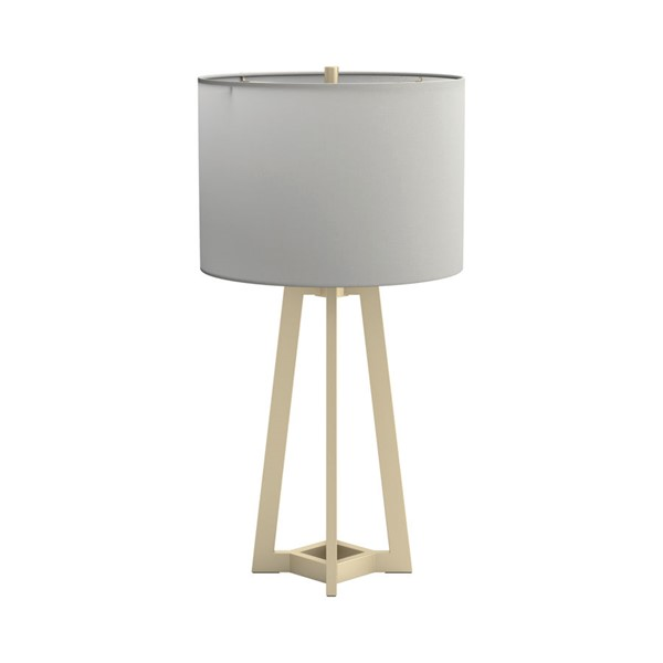 Coaster Furniture Gold White Drum Shade Table Lamp CST-920133