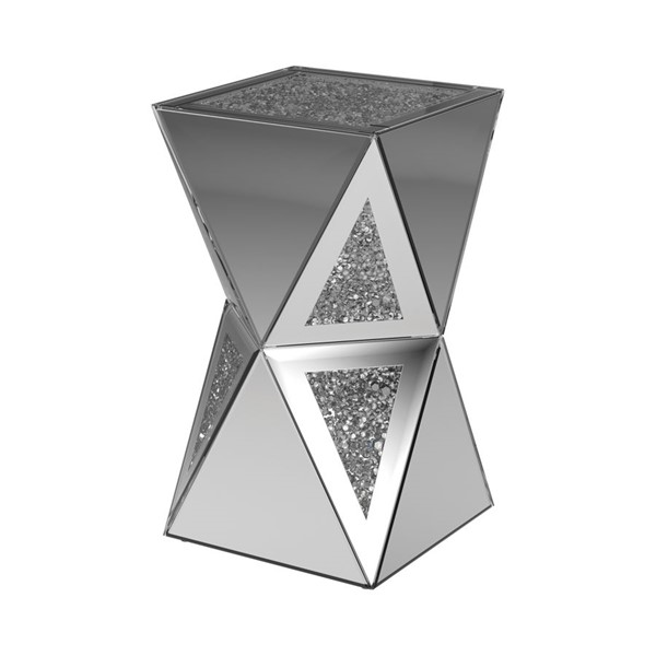 Coaster Furniture Silver Geometric Side Table CST-930216