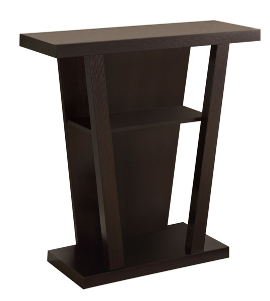Coaster Furniture Cappuccino Wood Rectangle Entry Table CST-950136