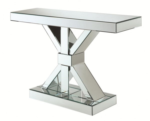 Coaster Furniture Clear Glass Rectangle Console Table CST-950191