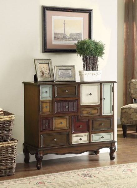 Brown Wood Multiple Drawers Accent Cabinet CST-950327