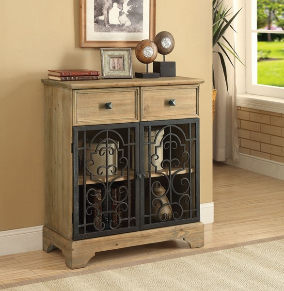 Wood Metal Rectangle Console Table W/Two Storage Drawer CST-950547