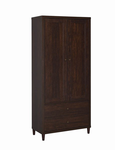 Coaster Furniture Rustic Tobacco Tall Cabinet CST-950724
