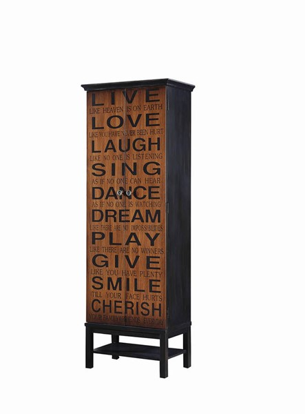 Coaster Furniture Rich Brown Black Tall Cabinet CST-950731