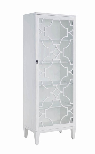 Coaster Furniture White Glass Tall Cabinet CST-950832