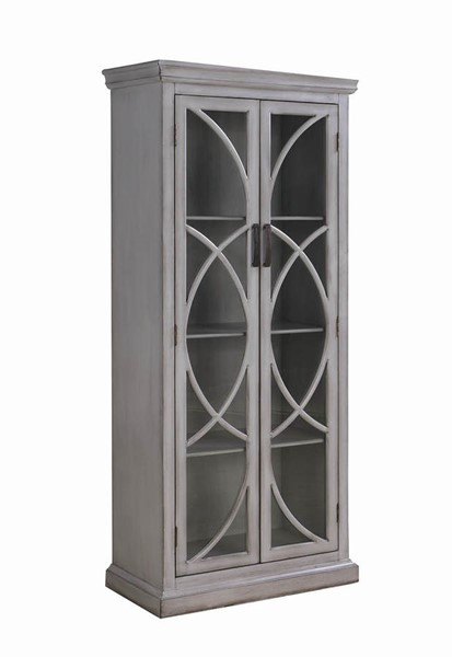 Coaster Furniture Antique Grey Tall Cabinet CST-950839