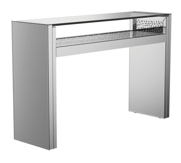 Coaster Furniture Silver Glass Console Table CST-951766