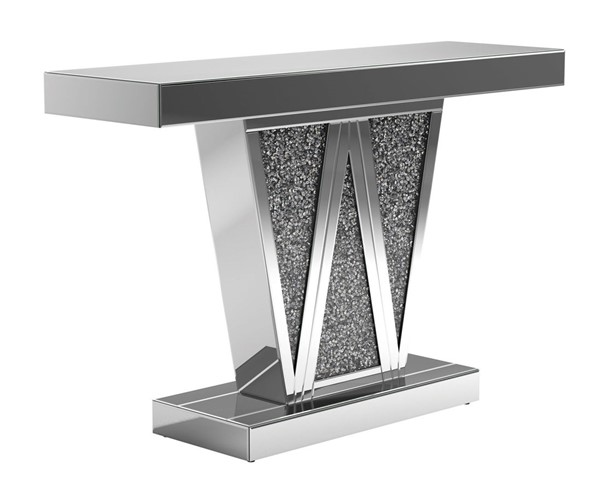Coaster Furniture Silver Geometric Console Table CST-951786