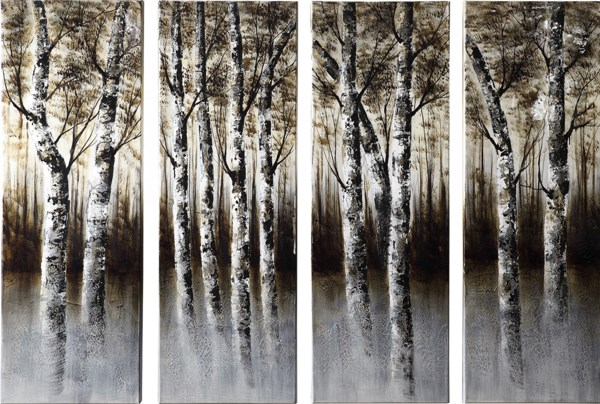 4 Wood Oil Painting Wall Art Set CST-960604