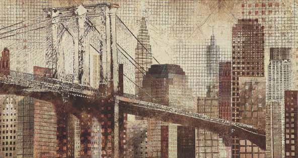 Brown Cityscape Architectural Wall Art CST-960751