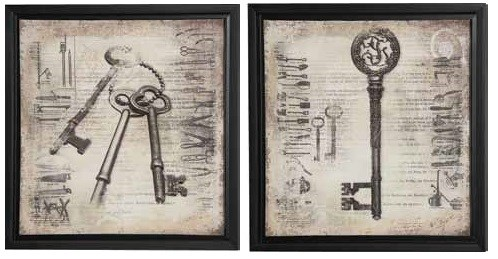2 Key To Memory Frame Square Wall Arts W/frame CST-960769