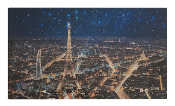 Starry Night In Paris Rectangle Wall Art CST-960849