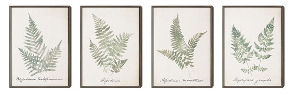 4 Leafy Prints Rectangle Wall Arts W/Frame CST-961015