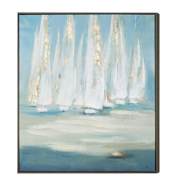 Sailing Square Wall Art w/Frame CST-961035