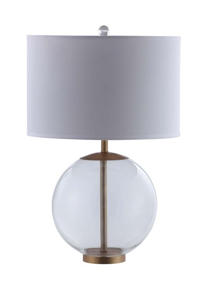 Coaster Furniture White Clear Table Lamp CST-961227