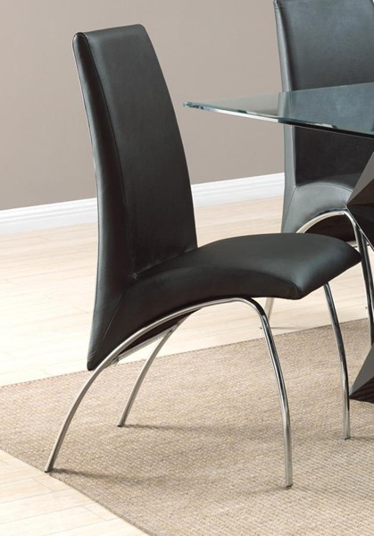 2 Ophelia Black Metal Solid Back Dining Chairs CST-120802