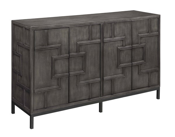 Coast to Coast Amberley Dark Grey Four Door Credenza CTC-13613