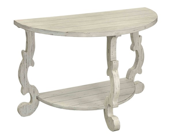 Coast to Coast Orchard White Demilune Console Table CTC-13622