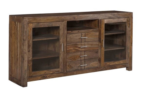 Coast to Coast Brown Four Drawer Two Door Media Console CTC-15245
