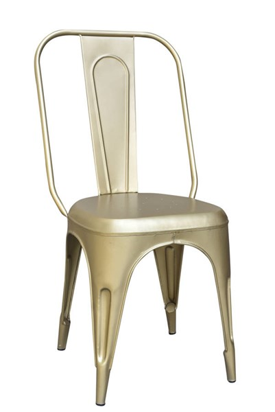 2 Coast To Coast Pearman Gold Metal Chairs