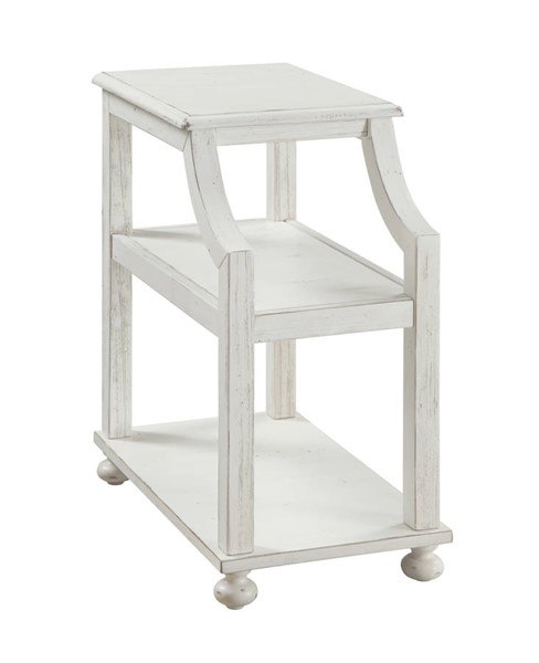 Coast to Coast Lilith White Chairside Accent Table CTC-22510