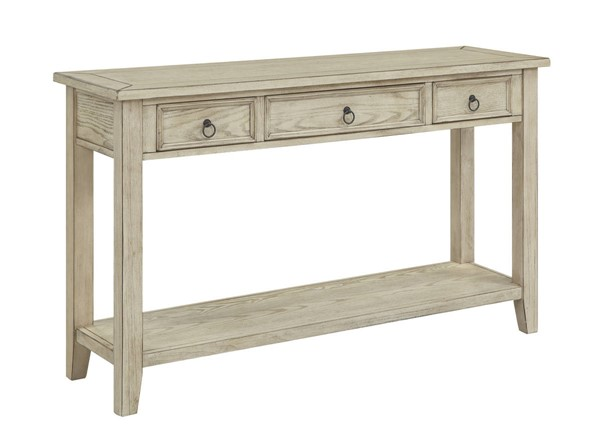 Coast to Coast Summerville Burnished Cream Three Drawer Console Table CTC-22513